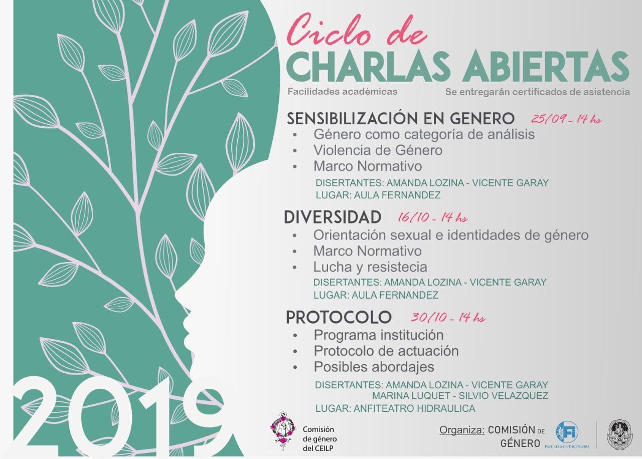 Ciclo de Charlas sobre Violencia de Genero, 25/9;16 y 30/10; 14hs